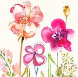 Roze Bloem 100% Met de hand gemaakt Olieverfschilderij op Canvas voor de Arts. van het Huis