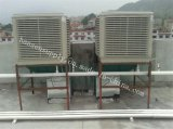 Канал охлаждающего вентилятора системы охлаждения охладителя нагнетаемого воздуха при испарении