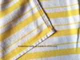 Toalha de chá listrada personalizada produto do jacquard do amarelo do algodão do projeto da fábrica de China