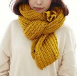 Шарф грелки шеи типа женщин множественной толщиной связанный зимой (SK128)