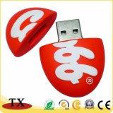 Het aangepaste Geheugen van de Flits van pvc USB van de Vorm van het Ei van Giften 3D