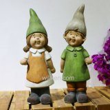 Figurines pequenos Handmade da escultura do ofício dos Gnomes da decoração do jardim