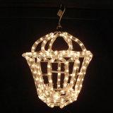[2700ك] [لد] عيد ميلاد المسيح حبل ضوء مستديرة 3 سلك نيون حبل شريط