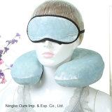 Avião látex U travesseiro de viagem & Eye Mask Fabricante