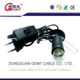 Interruptor con./desc. estándar del amortiguador del cable eléctrico de la lámpara de la sal E14 de Europa