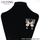 Xuping chapado en oro de la moda de nuevo diseño de los cristales de Swarovski Broches mariposa