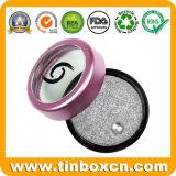 Le métal rond de mini cadre de bidon peut les bidons cosmétiques de baume de languette
