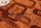 셔닐 실 290GSM에 의하여 주황색 자카드 직물 소파와 가구 직물