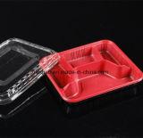 Rectángulo de almuerzo disponible de la maicena transparente plástica