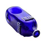 Handschlag-Handrohr-blaue Farben-Flaschen-Pfeifen (ES-HP-579)