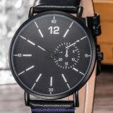 De Zwitserse Pols van het Kristal van het Horloge van de Mensen van het Kwarts van het Embleem van de douane voor de Mens (wy-17012B)