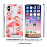 voor iPhone X Dekking IMD van de Telefoon van het Geval de Mobiele rood-Bekroond het Patroon van de Kraan Hybride PC TPU het Hoge Geval van het Effect voor iPhone X