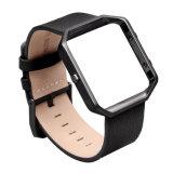 Caliente de 23mm Watch correa de cuero auténtico de la banda de Fitbit Blaze con bastidor