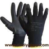 перчатки PU Coated полиэфира PU 13G работая
