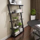 간단한 쉬운 작풍 현대 Temered 유리제 금속 사무실 책꽂이