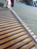 Do trilho feito preto residencial revestido decorativo do PVC de China cerco de aço