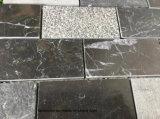 内壁および床の使用のための黒い煉瓦パターン石のモザイク・タイル