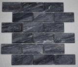 3x6 дюймов полированного камня Облачно серым мрамором метро мозаики на кухне пол и стены