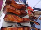 Violon européen d'érable de flamme de dos avancé fabriqué à la main d'une seule pièce