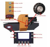 40*90cm großes Format-industrieller Flachbett-UVdrucker mit guter Qualität