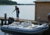 販売のためのLiya 4.3m PVC膨脹可能なボートの堅い最下のディンギー