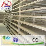 Shelving longo da extensão para o armazenamento dos artigos do sobressalente do armazém