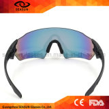 Polícia UV da lente do revestimento da visão dos homens óculos de sol táticos da grande anti