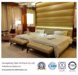 Het naar maat gemaakte Modernistic Meubilair van het Hotel met de Bank van het Bed van het Leer (yb-F-2656)