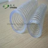 Fil d'acier en plastique PVC renforcé Durit du tuyau de décharge industrielle de l'eau
