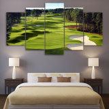 Pinturas de Lienzo impreso Campo de Golf de 5 piezas de arte de la pared de imágenes de lienzo para el Salón 5 PC imprimir afiches