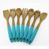12 Bamboo дюйма комплектов инструмента Bamboo варя ложки и шпателей кухни 6 частей