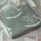 Супер мягким реверзибельным одеяло младенца жаккарда почищенное щеткой хлопком