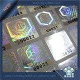 Kundenspezifischer schwieriger Regenbogen-Effekt-Laser-Hologramm-Aufkleber