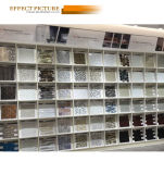 لون أبيض فسيفساء زجاجيّة لأنّ مركز تجاريّ جدار قرميد ([م855059])