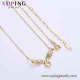 44396 Comercio al por mayor de alta calidad chapado en oro de aleación de cobre de Stock Collar de cadena de moda