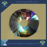 Goldfarben-Hologramm-Aufkleber mit schwarzem Seriennummer-Drucken