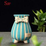 Flowerpot. dipinto a mano creativo semplice di ceramica