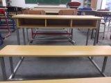販売(SF-39D)のための木の二重椅子および机の学校家具