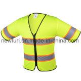 Тельняшки видимости сетки куртка высокой отражательная с короткой втулкой