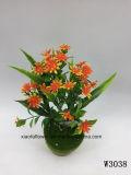 Plástico/Artificial el césped y flores de Bush (W3038)