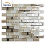Wand-Dekoration-Streifen-Formfoshan-Normallack-hellbraunes Kristallglas-Mosaik