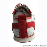 Vestimenta casual de cuero auténtico de las mujeres los zapatos con suela de TPR