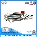Tous les types de la clé Allen avec les outils à main en zinc plaqué