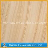 Het houten Gele Zandsteen van de Ader voor Plakken en Tegels