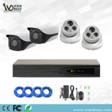 4CH Home Security 3MP/5MP cámara IP Starlight alarmas y sistemas de seguridad Kits de Poe