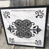 Mattonelle di marmo bianche, nere e grige di Volakas di fiore del reticolo