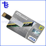 La publicité de marque de la société de carte de crédit du lecteur Flash USB Pen Drive
