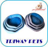 Tecido impresso e Mini-Plush Cão Gato camas redondas WY1711079)