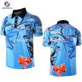 고품질 어업 셔츠를 인쇄하는 유일한 주문 어업 의복 승화
