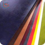 Colorida superficie aceitosa de PVC para el sofá de cuero sintético